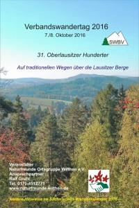 Plakat Verbandswandertag 2016